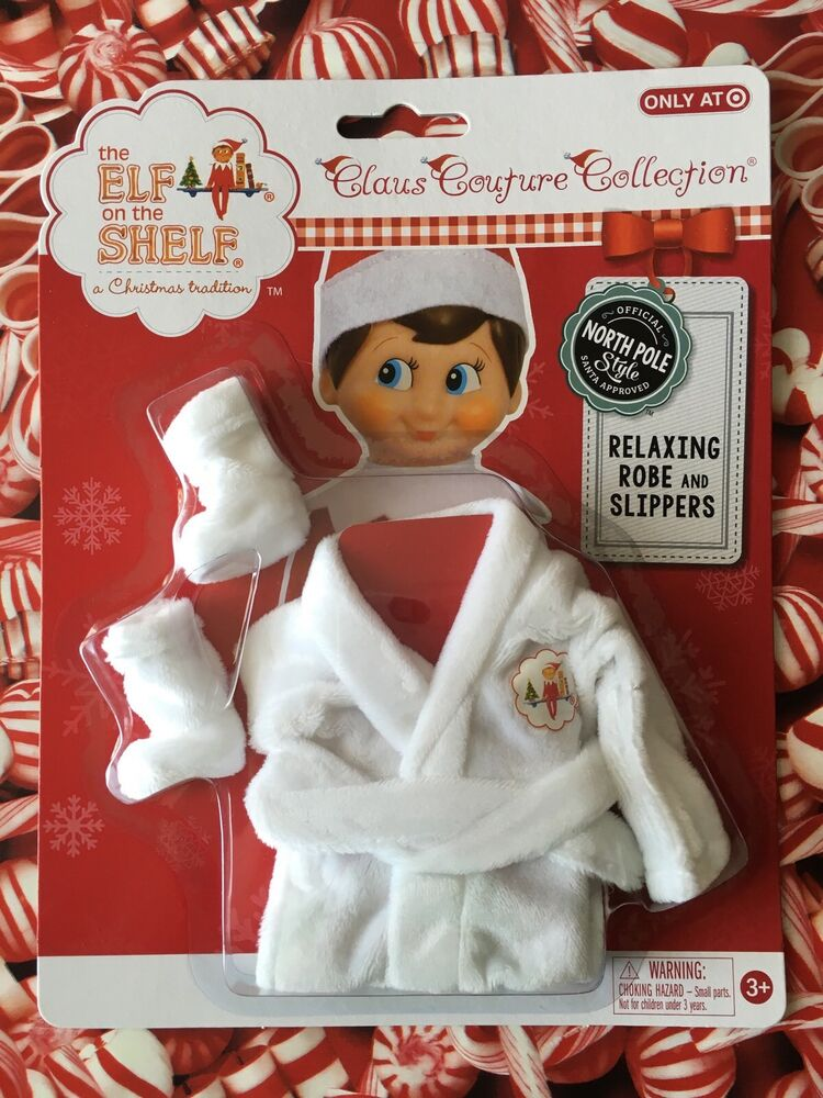 2015 White Relaxing Robe Amp Slippers Elf On The Shelf Claus