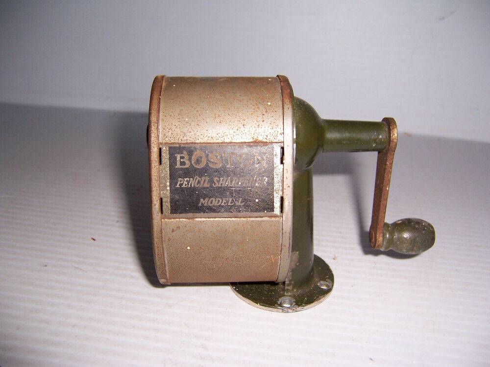 Vintage Boston Model L Pencil Sharpener Wall Desk Mount