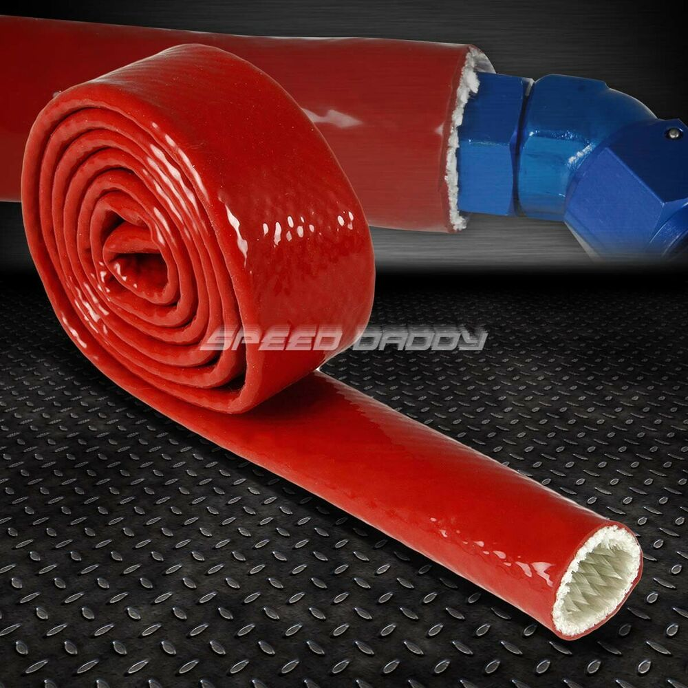3 4 20mm fire sleeve hose red silicone insulation braided for Fiberglass insulation fire rating