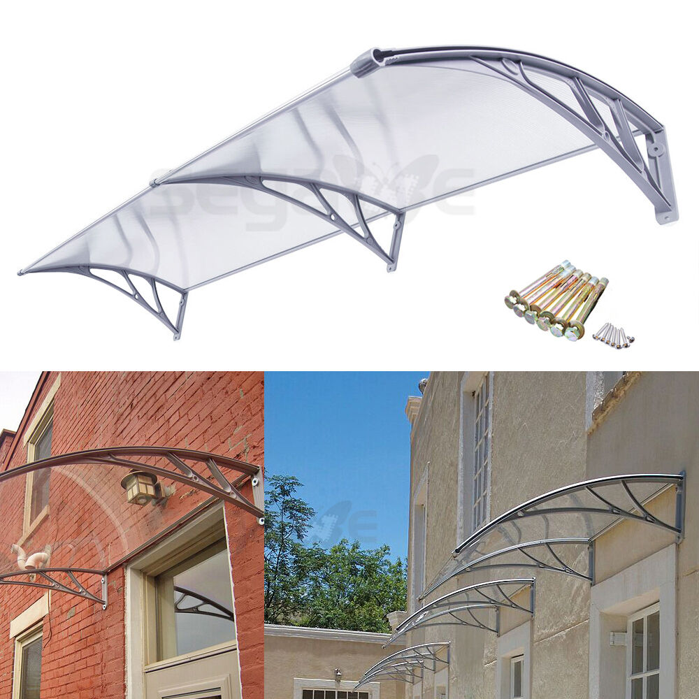 DIY Polycarbonate Awning For Door Window Door House Canopy