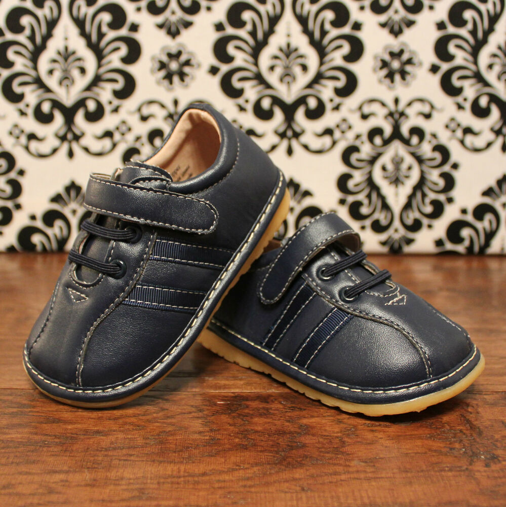 Navy Blue Toddler Boy Squeaky Shoes, Sizes 3, 4, 5, 6, 7 ...
