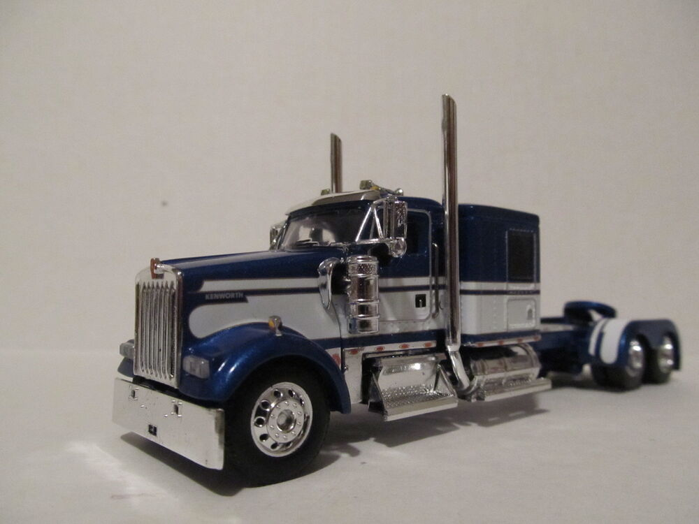 What Is My Truck Worth >> DCP 1/64 SCALE W900 KENWORTH FLAT TOP BLUE WITH WHITE SEMINOLE STRIPE   eBay