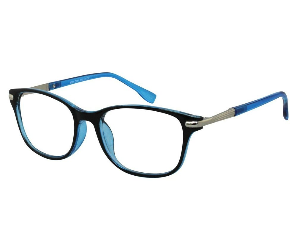 ebe reading glasses mens womens retro style blue acetate