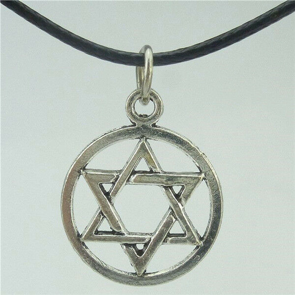 Antique star of david judaica pendant jewish symbol magen for Star of david necklace mens jewelry