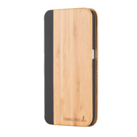 Snakehive® Samsung Galaxy S6 Natural Wood & Leather Phone Folio Wallet Case