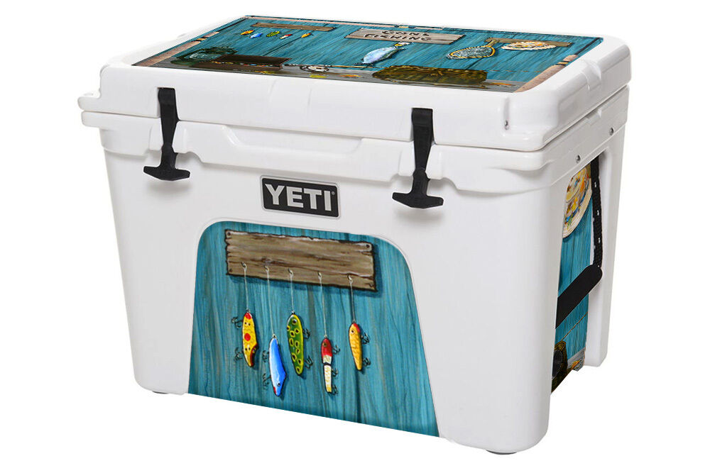 24mil l i skin wrap decal yeti roadie 20qt cooler ice for Fishing yeti decal