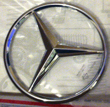 Mercedes benz oem genuine grille emblem star chrome badge for Mercedes benz badges for sale