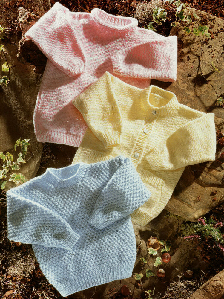Easy Stitches Baby Cardigan Tunic & Sweater DK 20 - 30