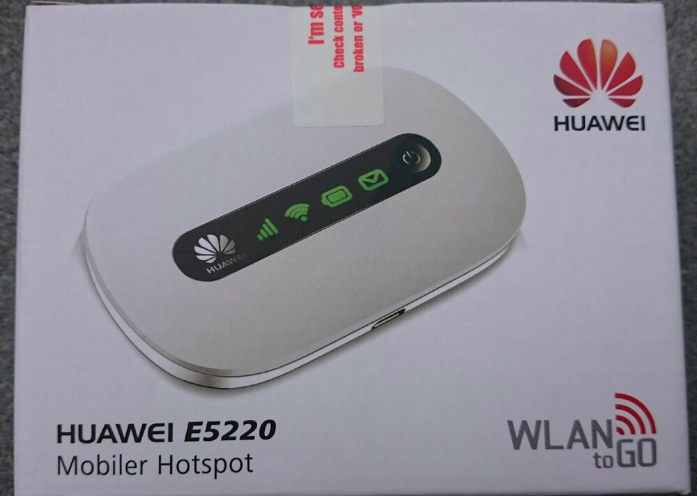 huawei e5220 mobiler wlan router wifi hotspot white hspa. Black Bedroom Furniture Sets. Home Design Ideas