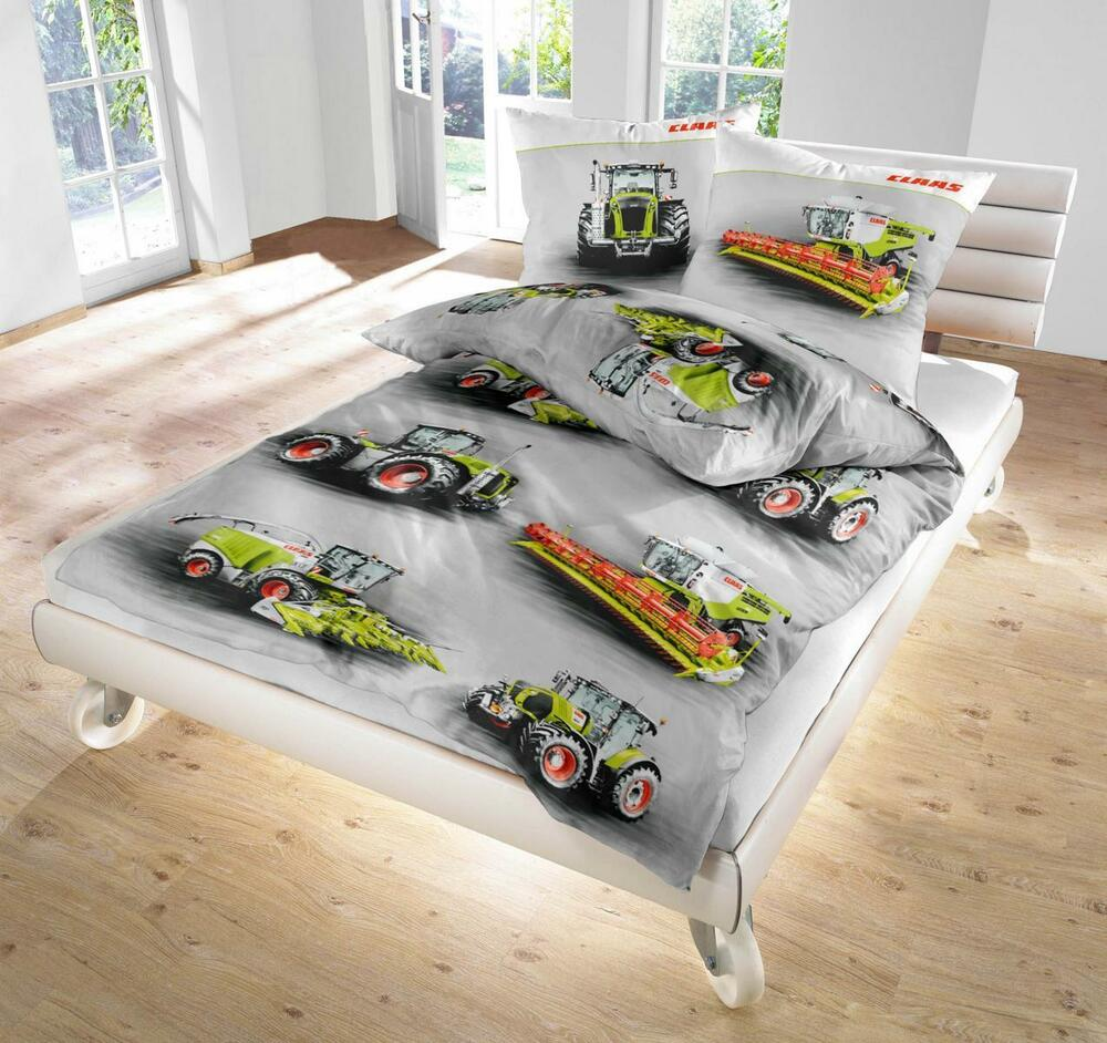 bettw sche 135x200 claas trecker traktor m hdrescher biber pf ebay. Black Bedroom Furniture Sets. Home Design Ideas