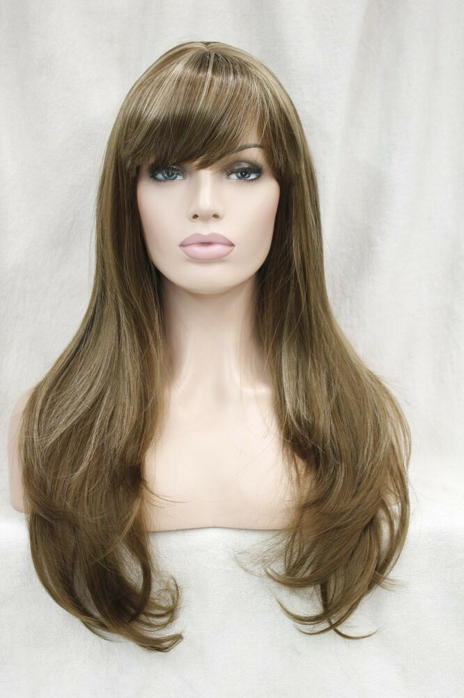 Beauty Brown Hair Woman With Smile On Her Face Royalty: Beautiful Light Brown W/ Blonde Highlight Straight Lady