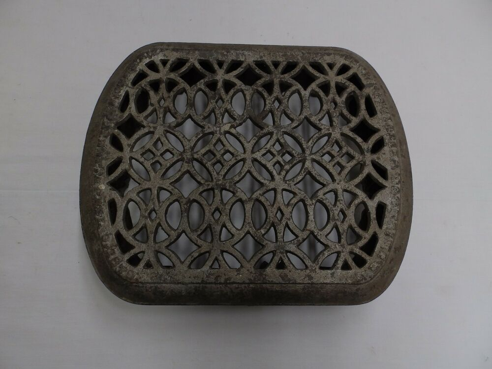 Small antique cast iron radiator cover decorative old - Cast iron radiator covers ...