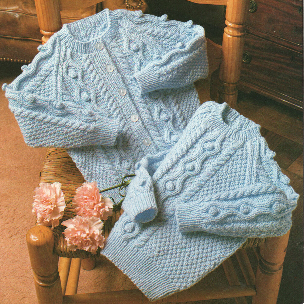Knitting Pattern Raglan Sleeve Baby Cardigan : Baby Raglan Cardigan and Sweater Bobbles Cable ~ 20