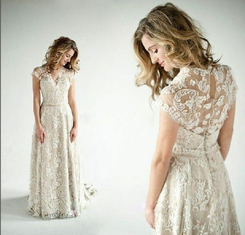 Lace A Vintage Inspired Wedding Dress Bridal Gown Custom