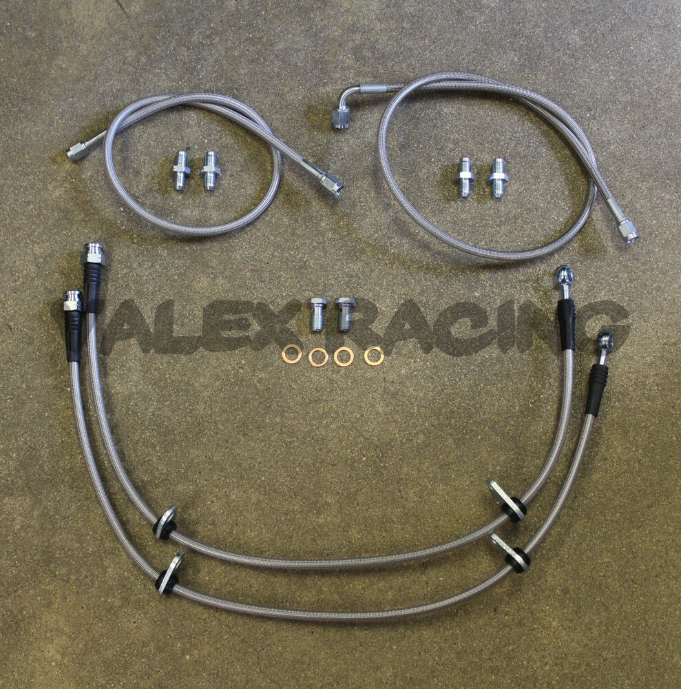 complete stainless front brake line replacement kit 96 00. Black Bedroom Furniture Sets. Home Design Ideas