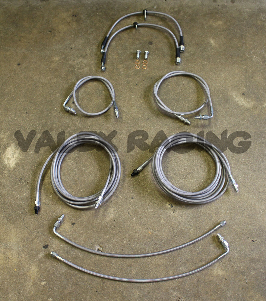 Brake Line Replacement Importance : Complete front rear brake line replacement kit