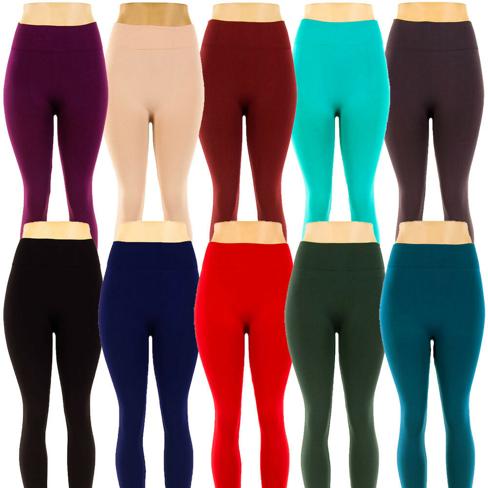 Womens Fleece Lined Leggings Warm Winter Thick Thermal ...