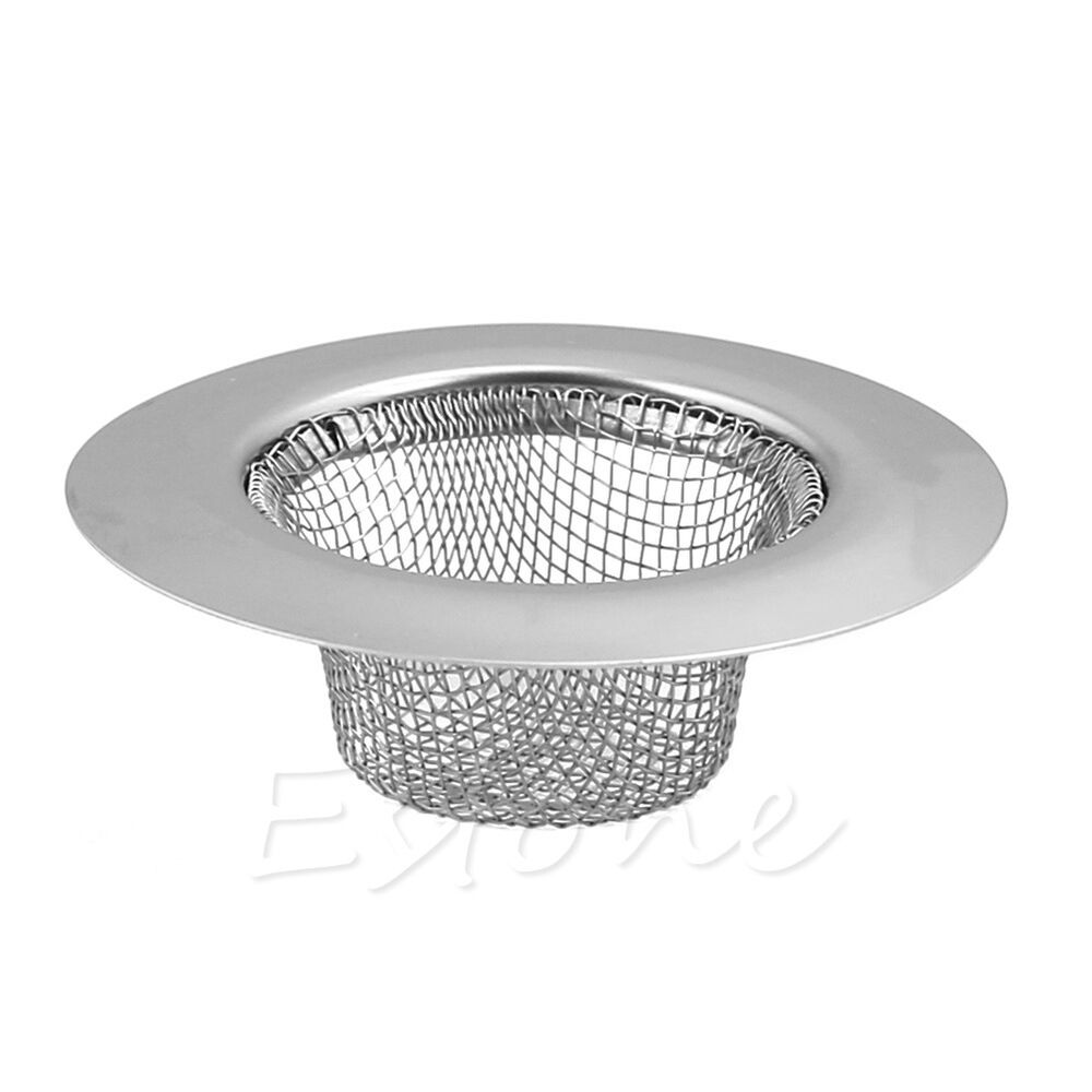 stainless bath basin strainer food mesh sink trap plug hole cover
