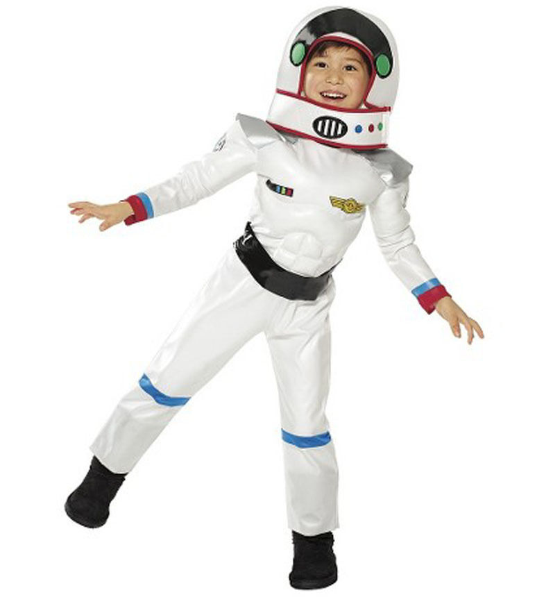Muscle Astronaut White Space Suit Boy Toddler Costume ...