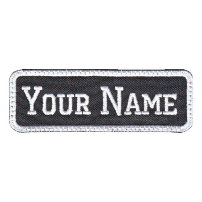 Rectangular 1 line custom embroidered name tag f ebay for Embroidered tags personalized