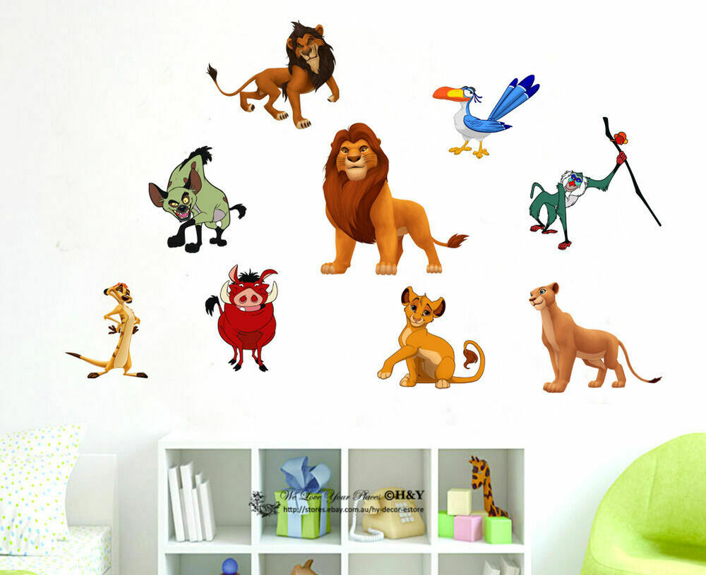 Lion King Kids Nursery Wall Stickers Home Decor Art Mural