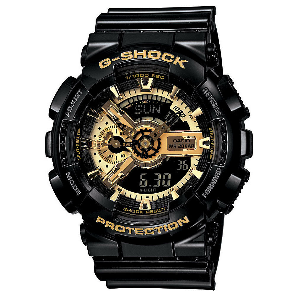G shock mens black gold watch bestseller ga110gb 1a 79767943219 ebay for Watches g shock