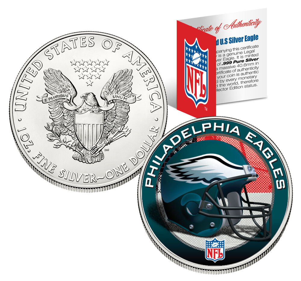 Philadelphia Eagles 1 Oz American Silver Eagle 1 Us Coin