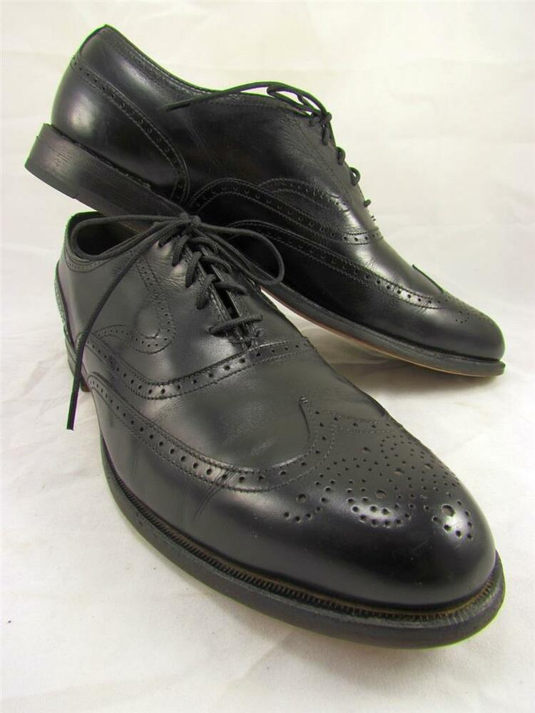 Footjoy Classics Wingtips Oxfords Black Leather Dress