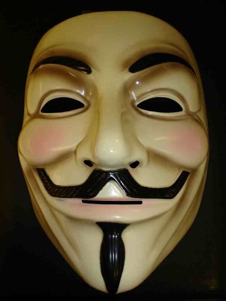 V for vendetta mask guy fawkes anonymous halloween masks fancy dress costume ebay - Pictures of anonymous mask ...