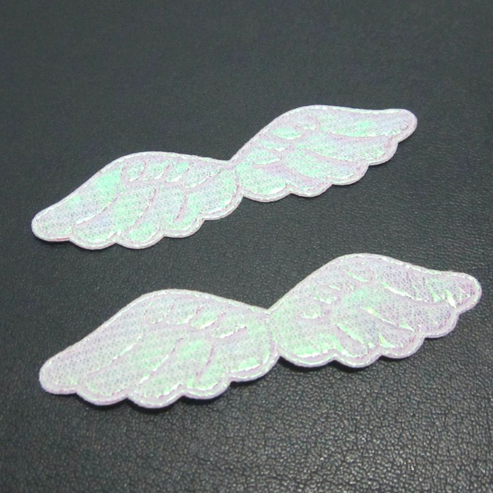 diy 50pcs ab pretty angel wings appliques diy wedding decoration crafts ebay. Black Bedroom Furniture Sets. Home Design Ideas