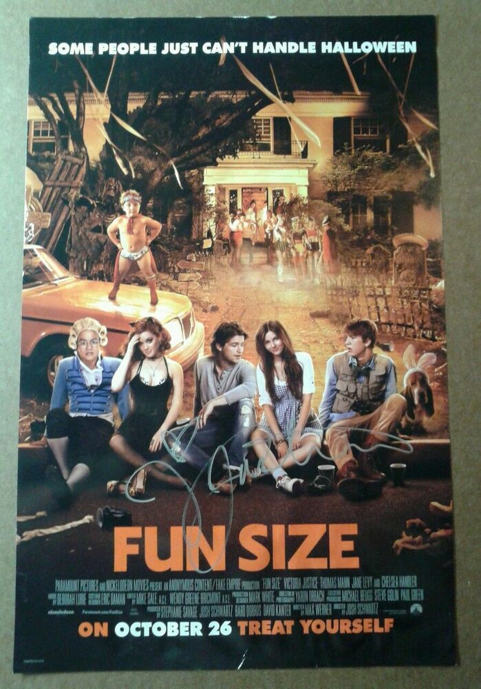 VICTORIA JUSTICE SIGNED AUTOGRAPHED FUN SIZE MOVIE POSTER ...