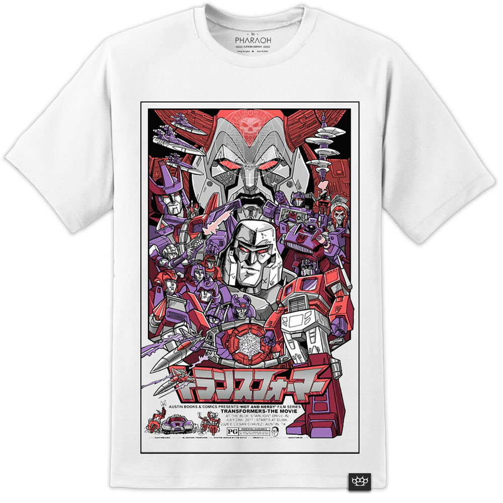 9f931739262a This special version of the Transformers movie poster t shirt features a  rare international style print of the original movie poster in the USA.