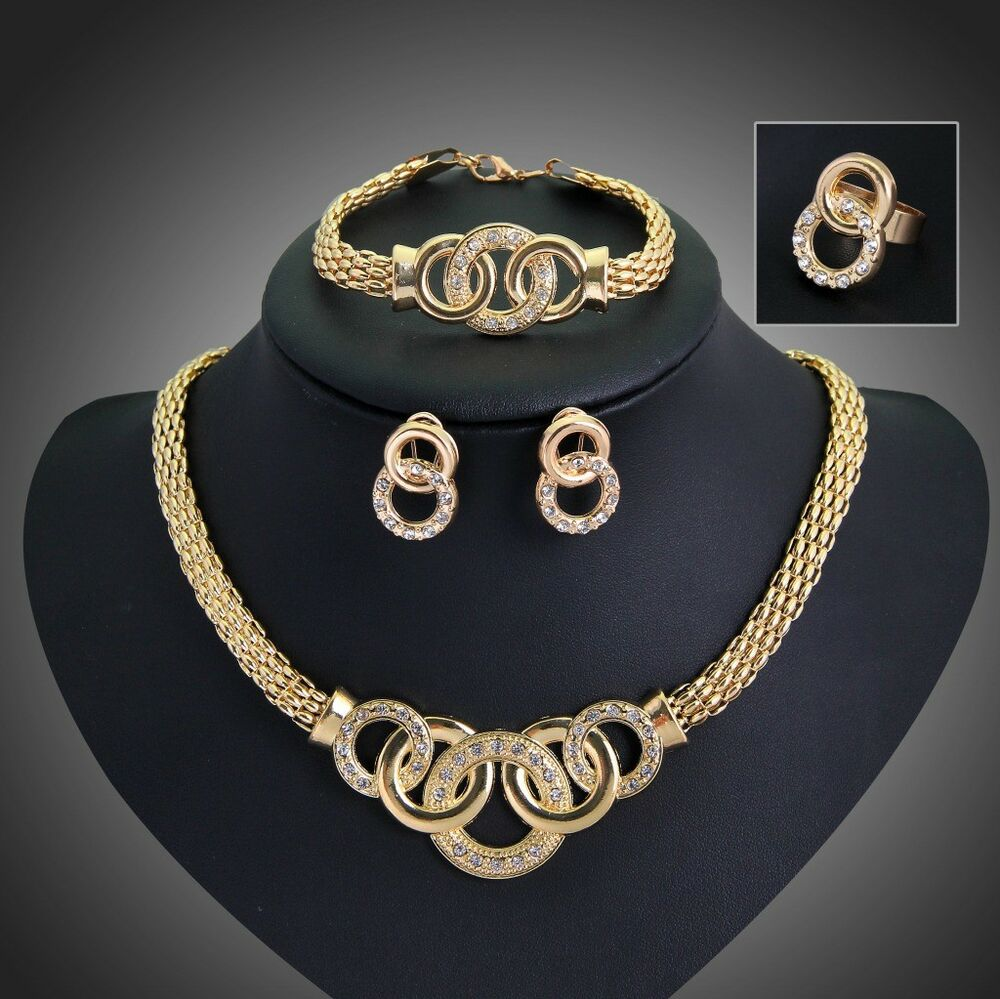 African Gold Plated Jewelry Sets New Fashion Women wedding