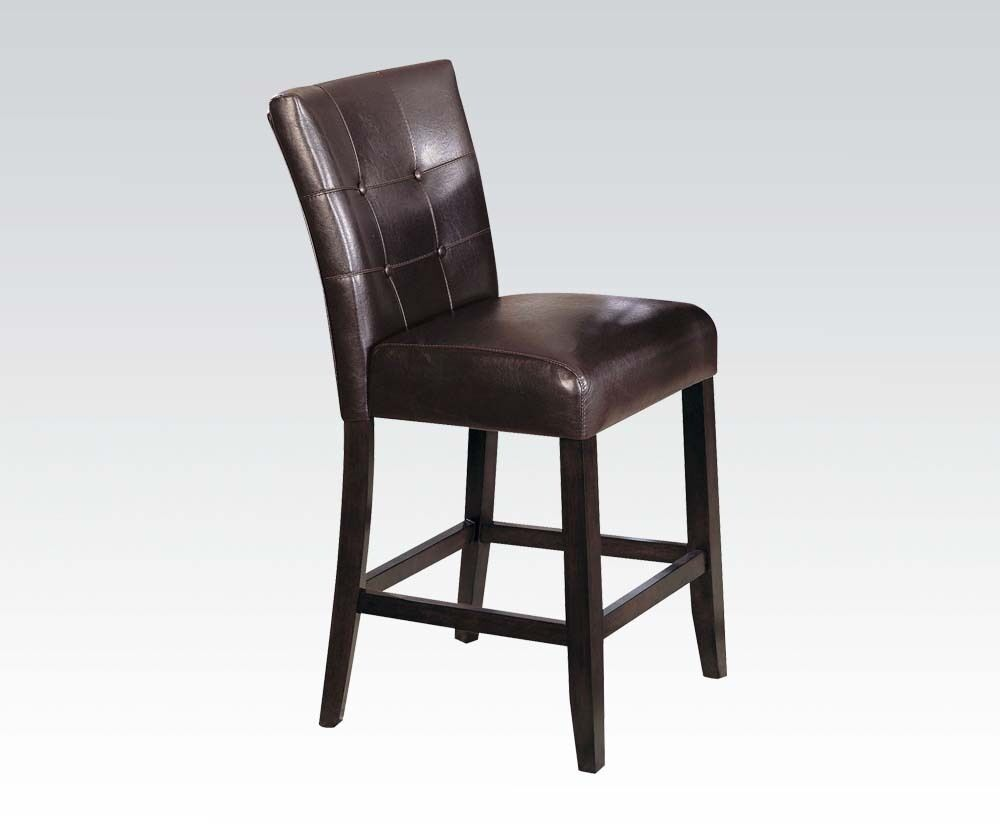 Counter Height Espresso Chairs : ... Design Espresso Finish Counter Height Dining Chairs Espresso PU eBay