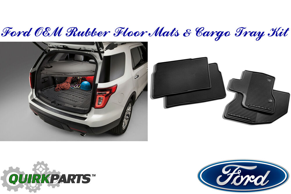 2011 2015 Ford Explorer Rubber All Weather Floor Mat