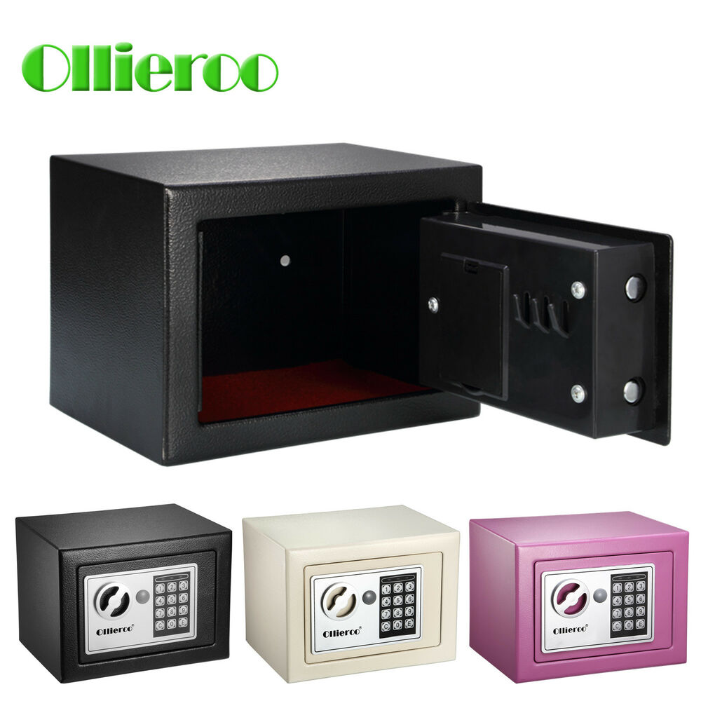 ollieroo digital safe box keypad lock security home office cash jewelry box ebay. Black Bedroom Furniture Sets. Home Design Ideas