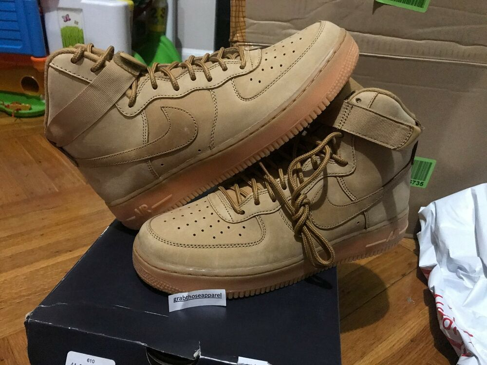 Nike Air Force 1 High u0026#39;07 LV8 Flax Wheat Collection 806403 200 Men u0026 Youth Sizes | eBay
