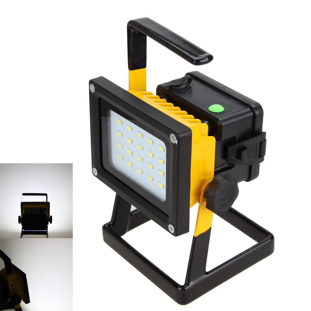 30w rechargeable outdoor portable led flood spot work light caravan camping lamp ebay. Black Bedroom Furniture Sets. Home Design Ideas