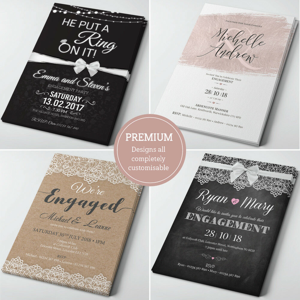 personalised engagement invitations engagement party. Black Bedroom Furniture Sets. Home Design Ideas