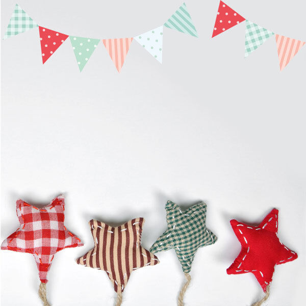 decorative flags bunting nursery kids wall stickers, wall decals