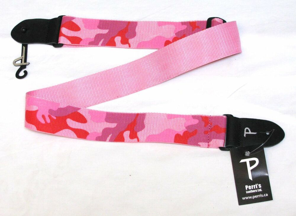 perri 39 s pink camouflage guitar strap camo new 881738116153 ebay. Black Bedroom Furniture Sets. Home Design Ideas