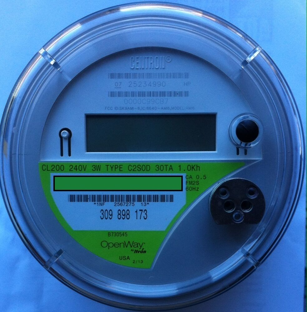 Itron Electric Meters : Itron watthour meter kwh c sod openway lugs v