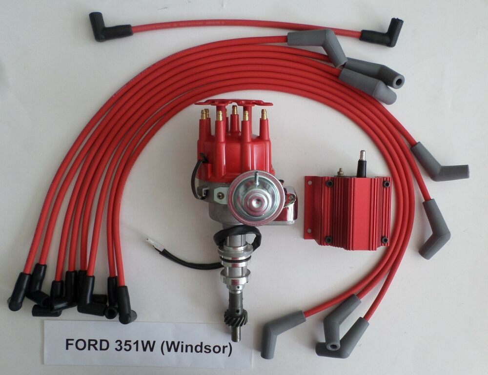 ford 351w windsor red small cap hei distributor red. Black Bedroom Furniture Sets. Home Design Ideas