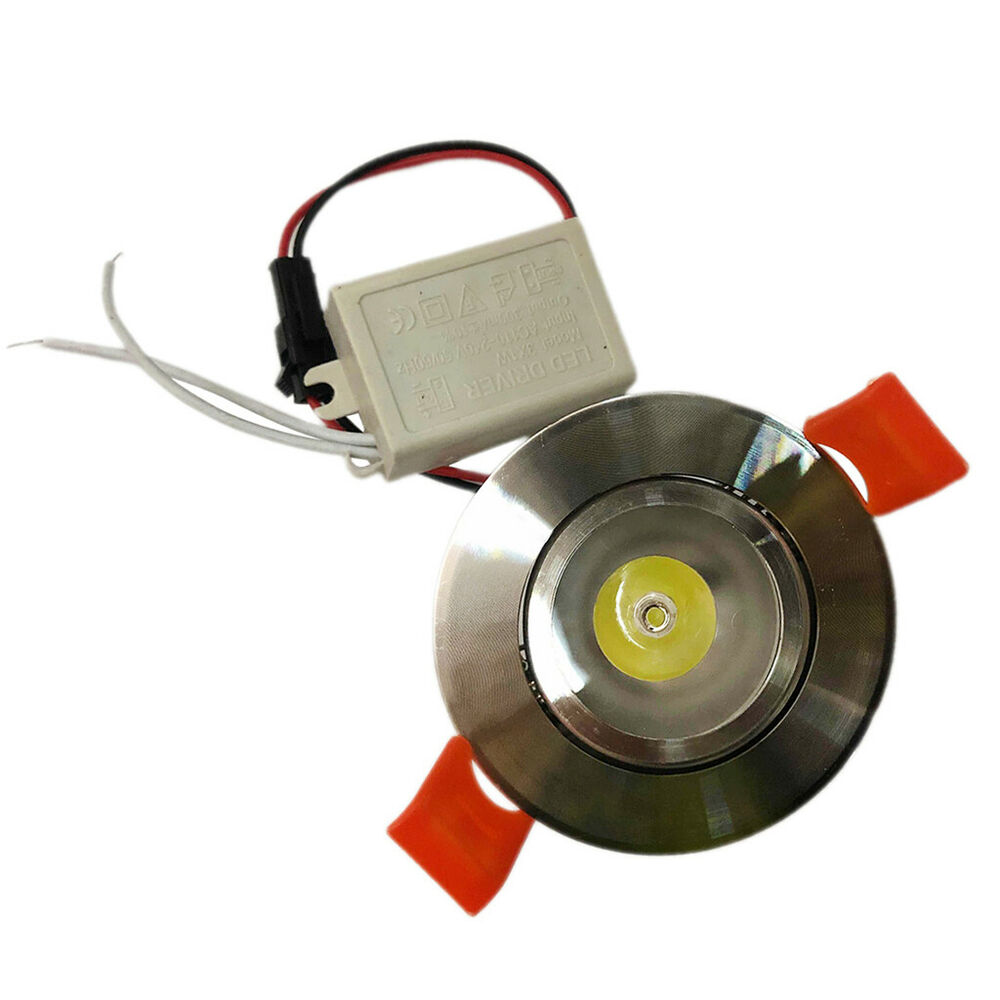 1w White Led Downlight Recessed Cabinet Ceiling Fixture