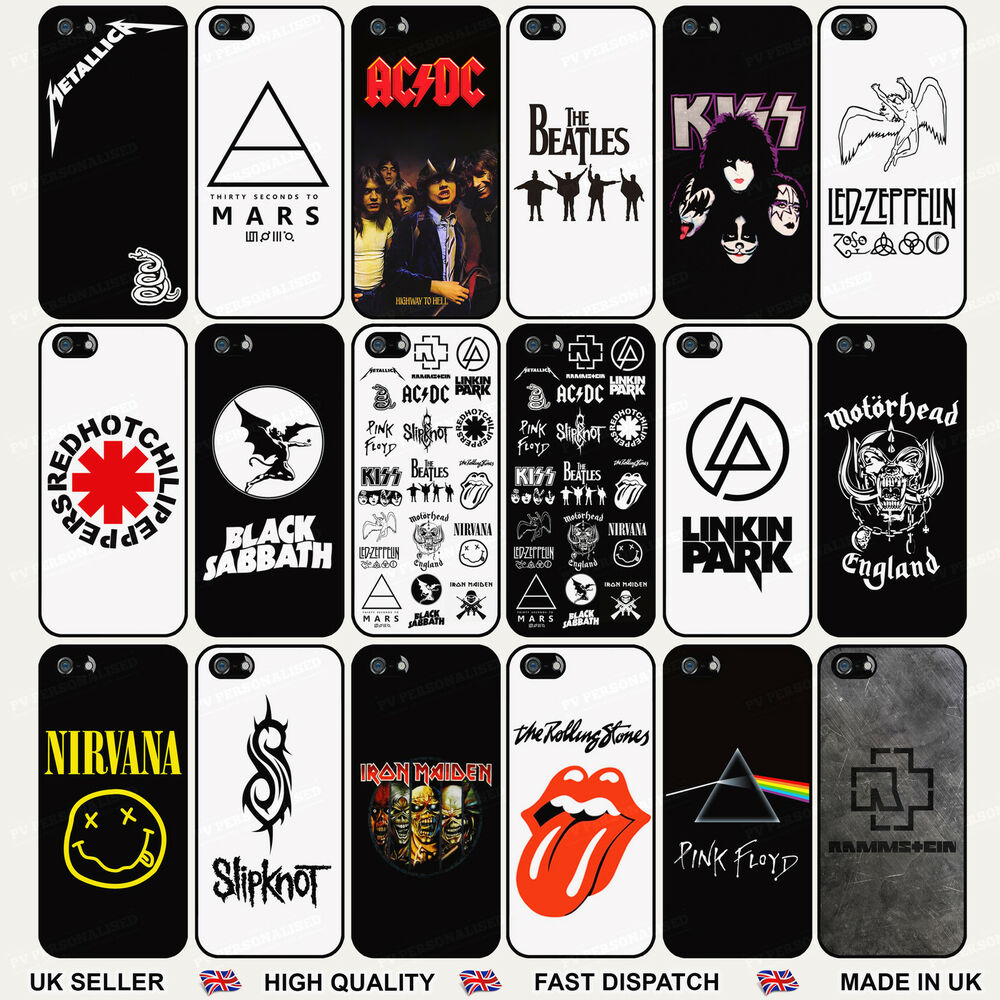 Rock-n-Roll Metal Bands Hard Case Cover For Apple IPhone
