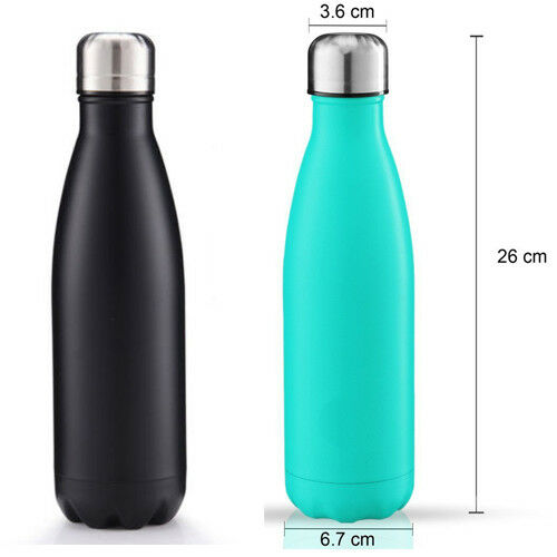 500ml Vacuum Insulated Flask Thermal Thermos Sports Chilly ...