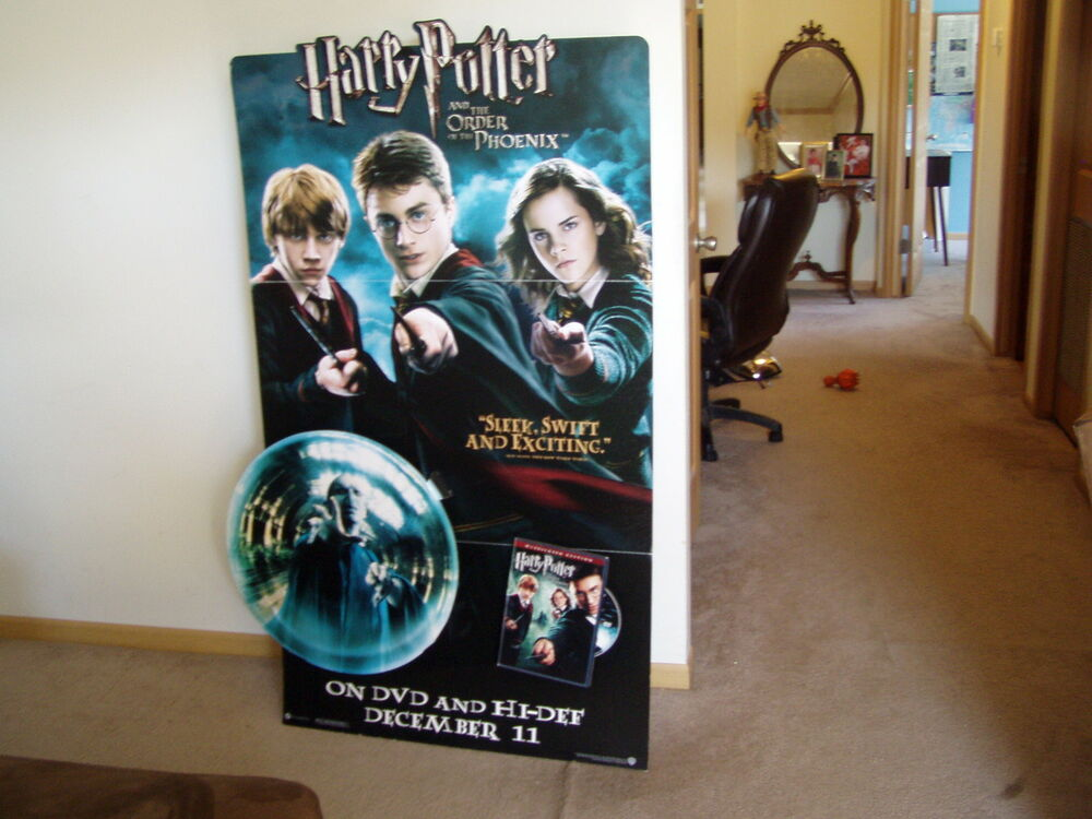 harry potter large 3d card board movie poster theater