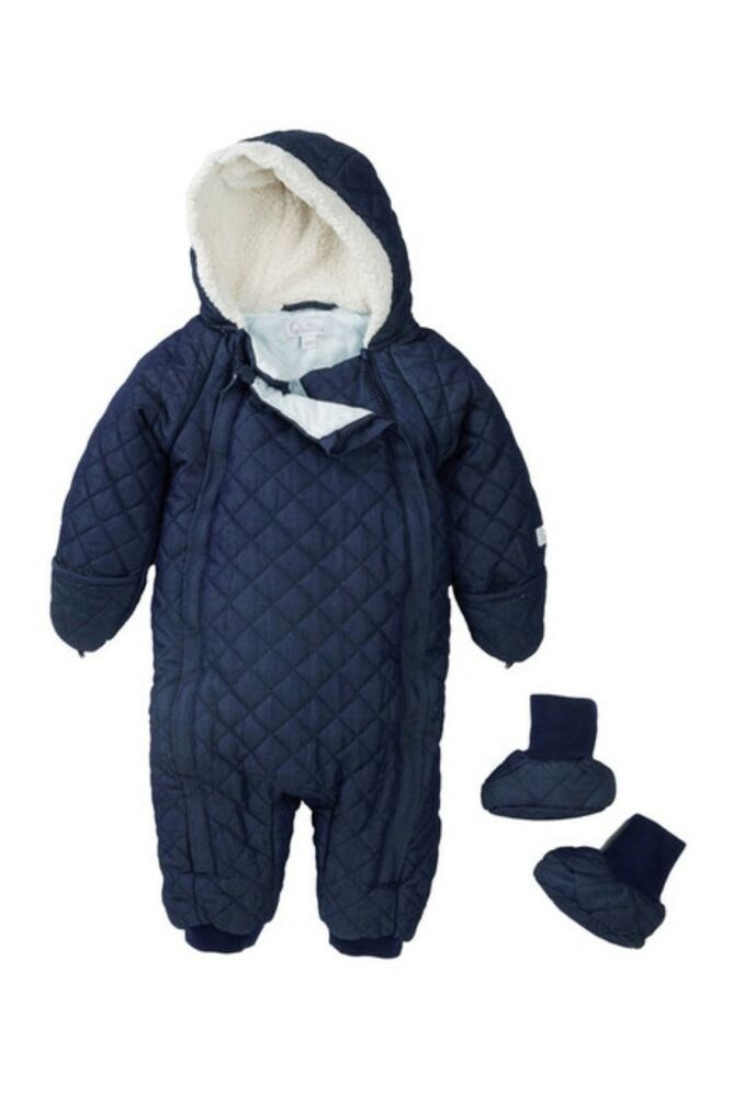 Quiltex Qnb Baby Boy Quilted Faux Shearling Lined Navy