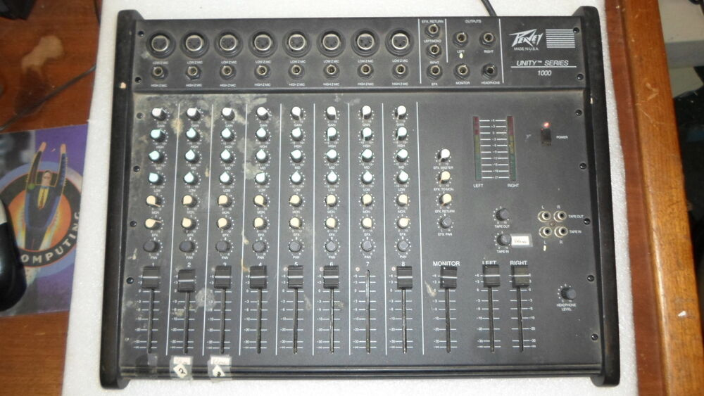 peavey unity 1000 8 channel analog mixer mixing board ebay. Black Bedroom Furniture Sets. Home Design Ideas