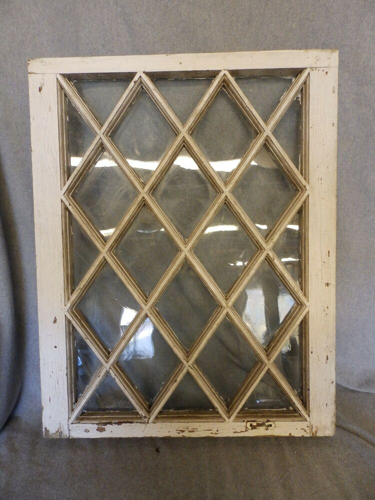 Antique casement window sash diamond cabinet cupboard for 15 window